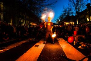 Fire Juggler at the Night Market