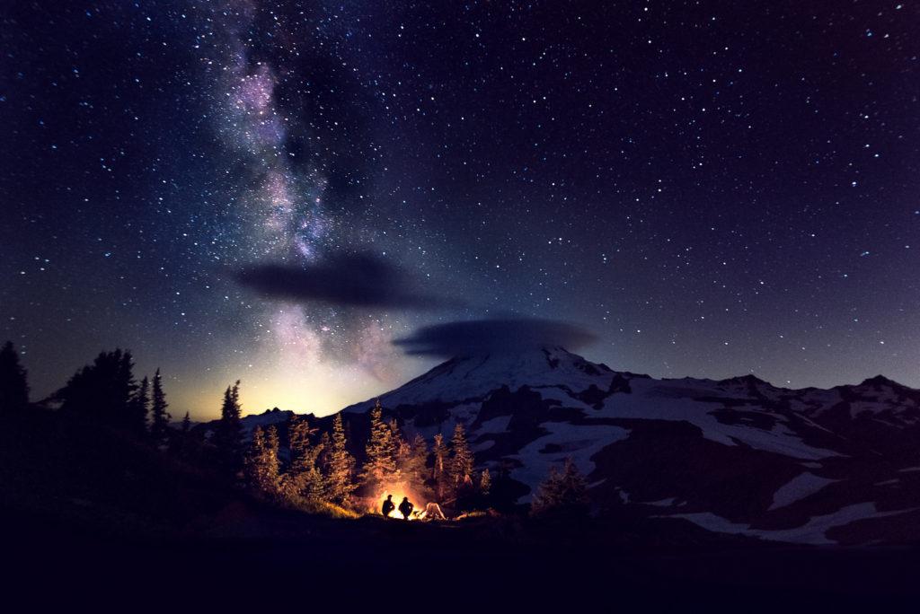 Milky Way Over Mt. Baker