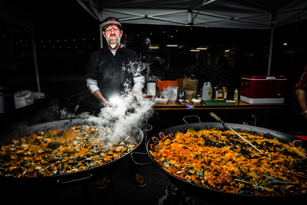 Paella at Night